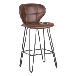 Thorion - Lot de 2 Tabourets de Bar Simili Marron