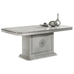 AMALIA - Table Rectangulaire 185cm Allongeable avec Pied Central