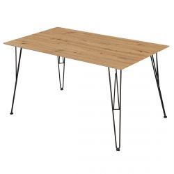 SINOP - Table Rectangulaire Plateau Effet Bois