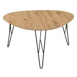 Caceres - Table Triangulaire Plateau Effet Bois