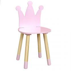 Crown - Chaise Enfant Rose Dossier Couronne