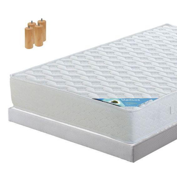 MALDIVES - Pack Matelas + AltoFlex 90x190 + Pieds