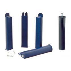 PLAST - Jeu de 4 pieds 28 cm bleus + pied central pour cadre à lattes