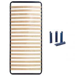 ALTOSLEEP - Pack Sommier 90x190cm 18 Lattes + Pieds Bleus