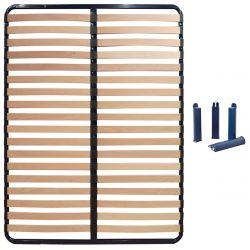 ALTOSLEEP - Pack Sommier 140x190cm 2x18 Lattes + Pieds Bleus