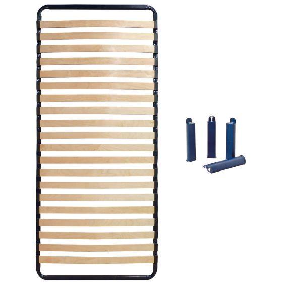 ALTOLATTES - Pack Sommier 20 Lattes 90x200cm + Pieds bleus
