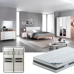 PREEM - Chambre Complète 160x200cm + Sommier AltoZone + Matelas Seychelles
