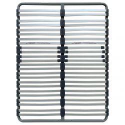 GREYLINE - Sommier 2x24 Lattes 140x190cm + Régulateur Fermeté