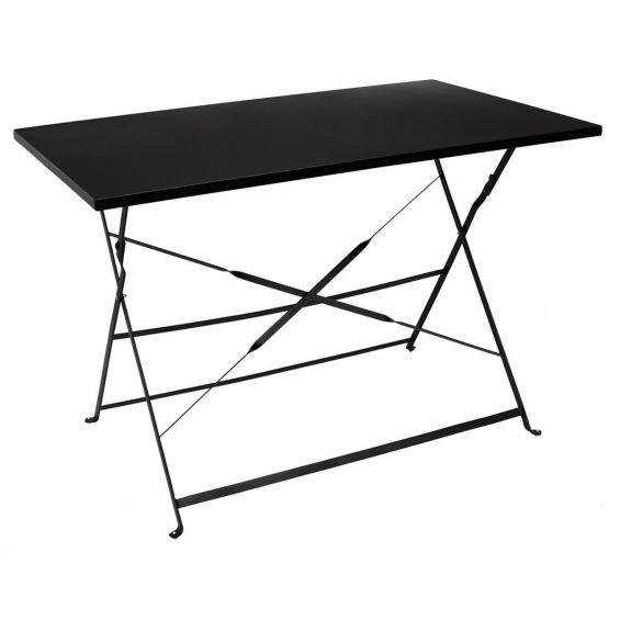 Malam - Table de Repas Rectangulaire Pliante Noire