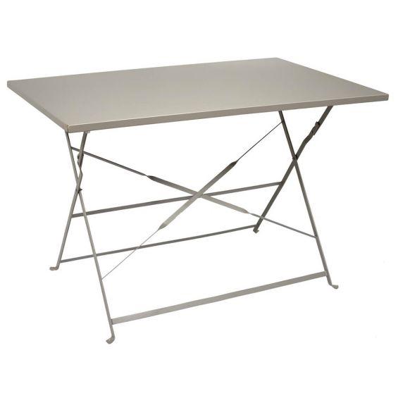 Malam - Table de Repas Rectangulaire Pliante Taupe