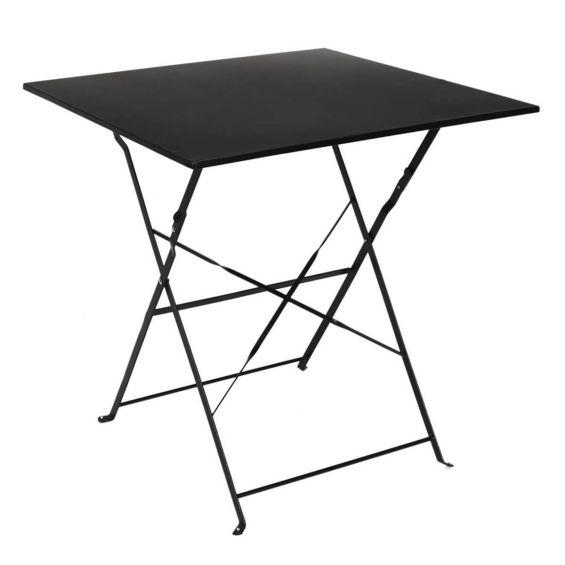 Malam - Table de Repas Carrée Pliante Noire