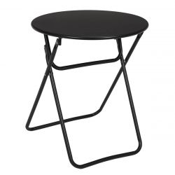 Malam - Table d'Appoint Ronde Pliante Noire