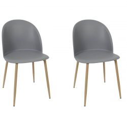 MADDY - Lot de 2 Chaises Scandinaves Grises