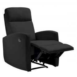 TALARA - Fauteuil Relax Electrique Toile Gris Anthracite