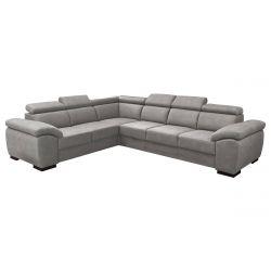 BRUGES - Canapé d'Angle Réversible Coloris Gris Cendre