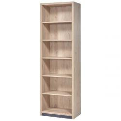 LETTY - Bibliothèque 6 Niches Aspect Bois Clair