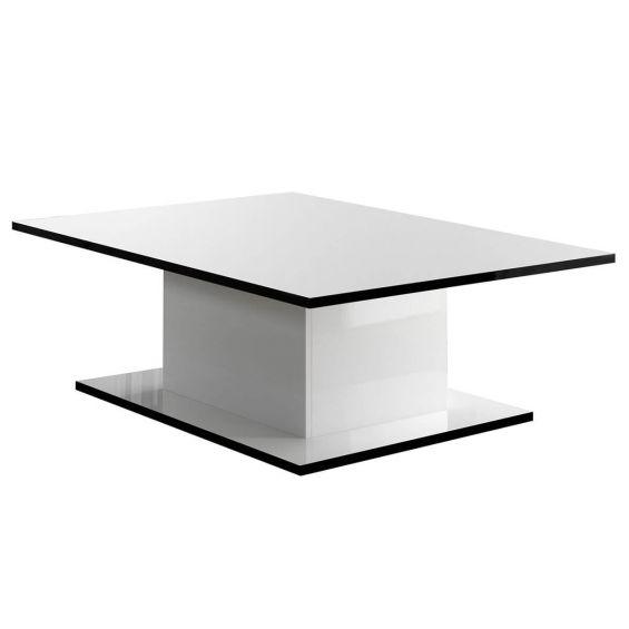 COLUMBUS / ALYSSA - Table Basse Laquée Brillant Blanc