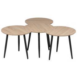 FAAST - Tables Gigognes Modulables Aspect Bois