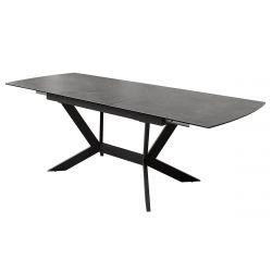 MIRNA - Table Allongeable Céramique Grise