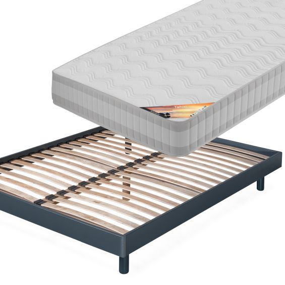 TAHITI - Pack Matelas + NeoKit Anthracite 160x200