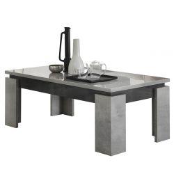 HOFFMAN - Table Basse à 4 Pieds Gris Aspect Pierre