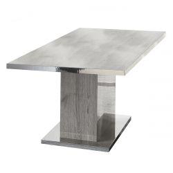 NAKTAM - Table Rectangulaire Aspect Chêne Gris Laqué