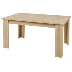 FANNY - Table Repas Allongeable Aspect Bois et Pierre