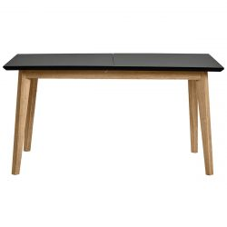 KANDY - Table Repas Extensible Plateau Noir