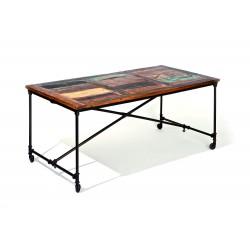 Fabrik - Table sur roulettes
