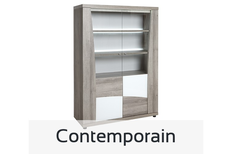 Tous nos meubles au style contemporain, table, tabouret de bar, bureau, buffet, vitrine, chaise
